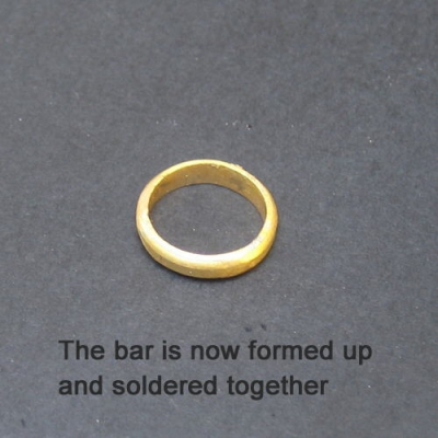 Roughly formed ring