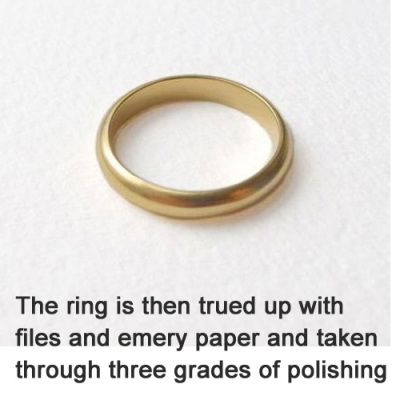 Finished gold ring