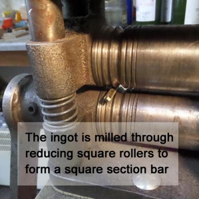 Square milling gold bar