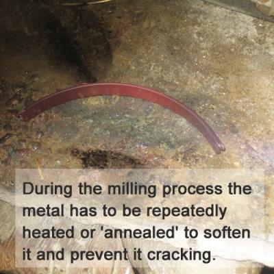Annealing gold