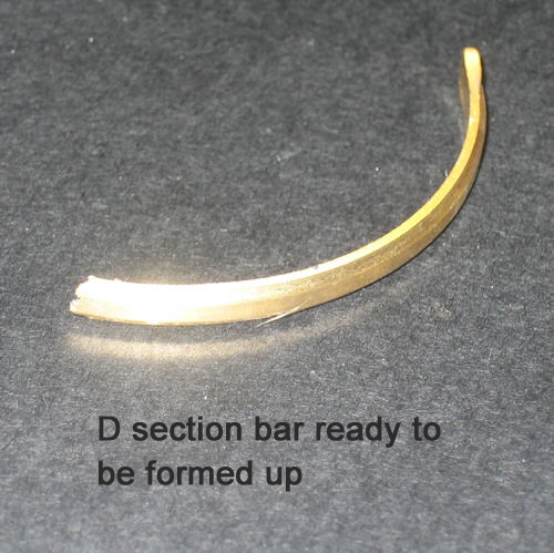 D section gold strip