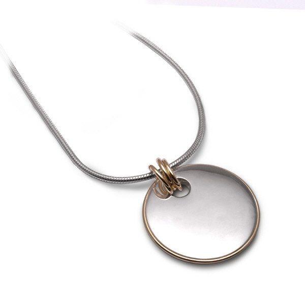 Gold rim pendant