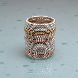 stack of beaded stacking rings