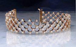 Flex bracelet gold and diamonds