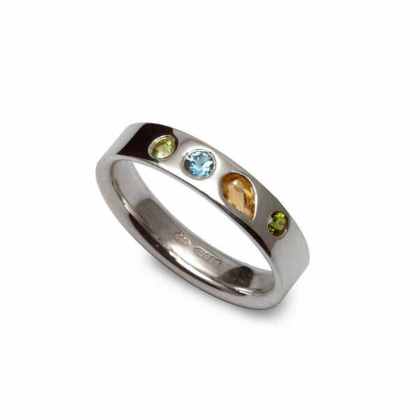 Rainbow gem ring