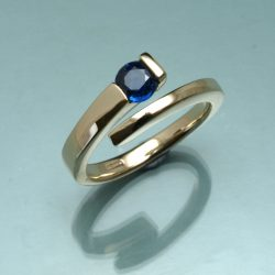 sterling silver ring set with gem