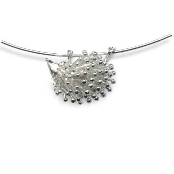 Silver hedgehog pendant