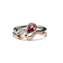 Calypso ring with rose gold band
