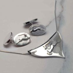 Silver and gold antelope jewellery