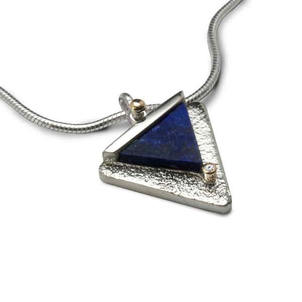 Lapis triangle necklace